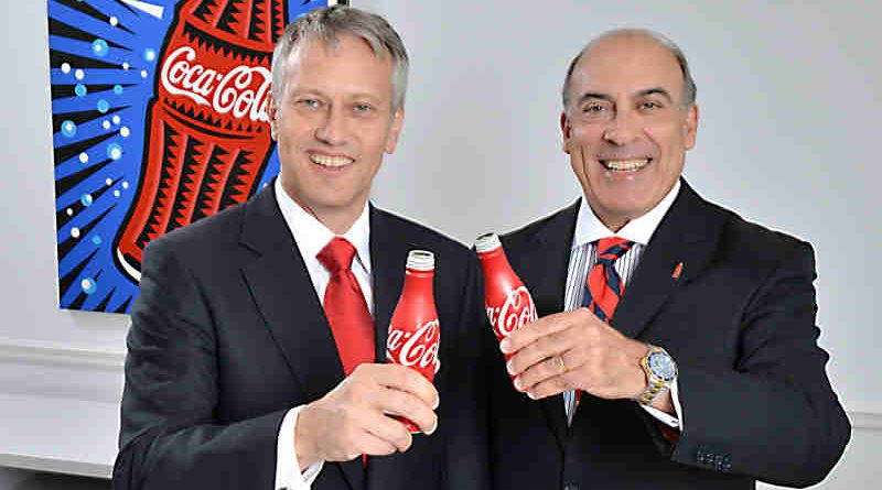 James Quincey wit Muhtar Kent. Photo: Coca-Cola