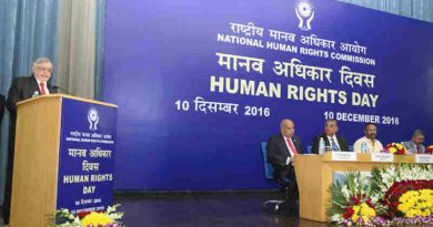 The Governor of Kerala and former Chief Justice of India, Mr. Justice P. Sathasivam addressing at the Human Rights Day function of the National Human Rights Commission (NHRC), in New Delhi on December 10, 2016