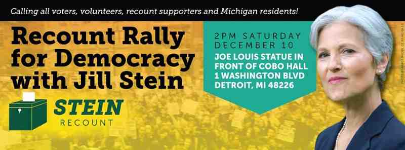Stand Up for Democracy: Recount Rally with Jill Stein