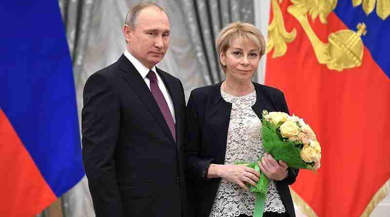 Vladimir Putin with Yelizaveta Glinka