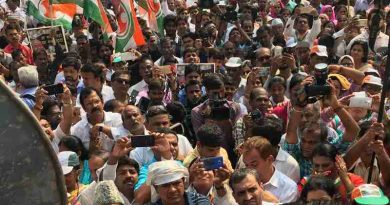 People of India Protesting Against Narendra Modi Government on January 18, 2017