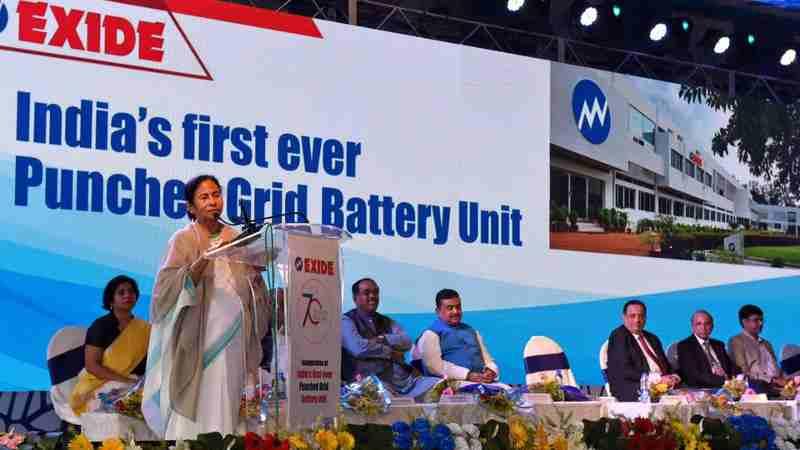 Mamata Banerjee inaugurated a new-generation car battery manufacturing facility at Haldia on January 2, 2017.