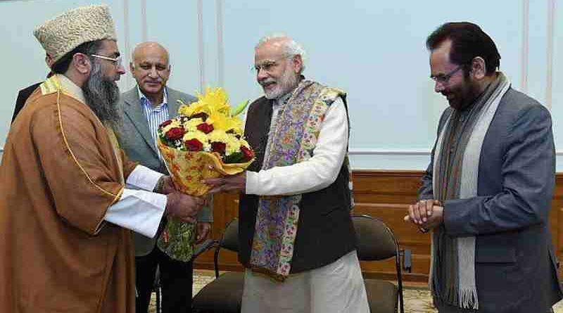 Union Minister of State for External Affairs M.J. Akbar standing with PM Modi (file photo). Photo courtesy: Narendra Modi website