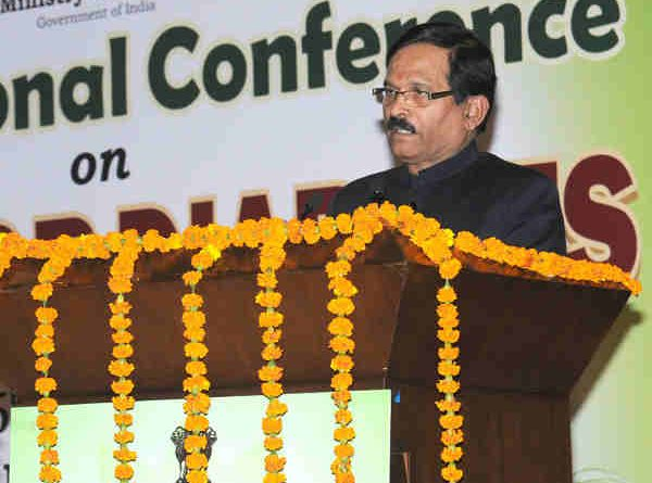 "Shripad Yesso Naik addressing at the inauguration of the International Conference on ""Yoga for Diabetes"", in New Delhi on January 04, 2017"
