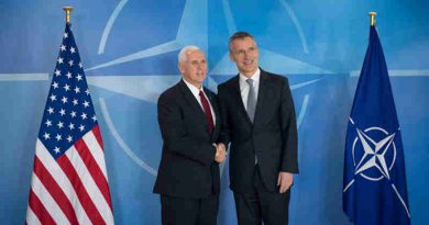 Mike Pence with Jens Stoltenberg. Photo: NATO