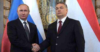 Russian President Vladimir Putin with Prime Minister of Hungary Viktor Orban