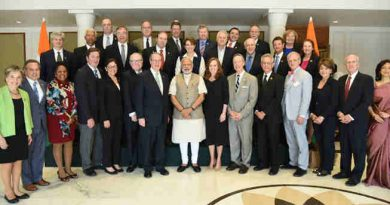 The US Congressional Delegation calls on the Prime Minister, Shri Narendra Modi, in New Delhi on February 21, 2017.
