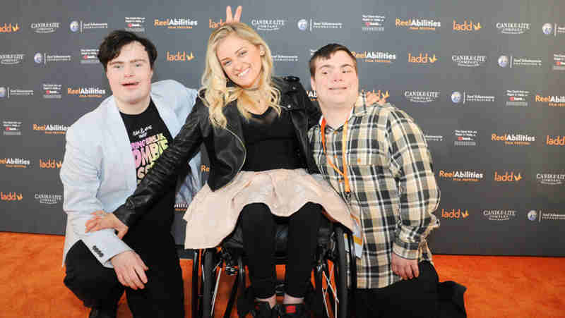 "Ali Stroker of ""Glee"" attend the ReelAbilities Film Festival held March 9 - 12 in Cincinnati, Ohio with ""Spring Break Zombie Massacre"" stars Sam Suchmann and Mattie Zufelt"