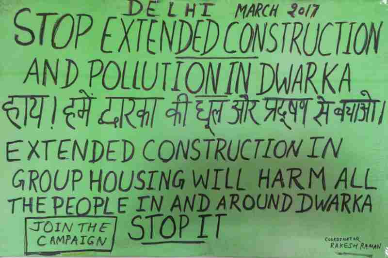 Stop extended construction and pollution in Dwarka, New Delhi