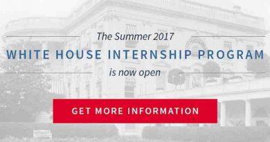 Summer 2017 White House Internship Program