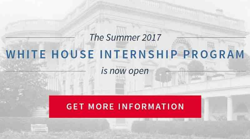 Summer 2017 White House Internship Program