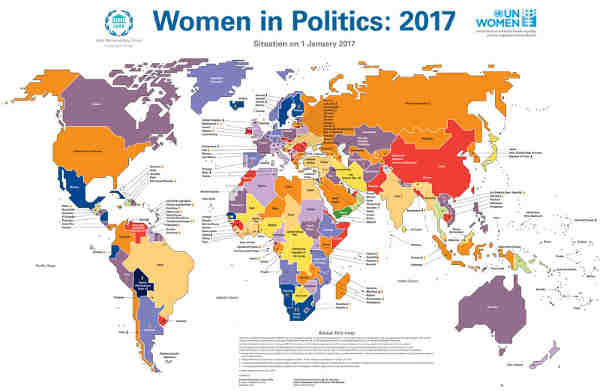 New UN Map Reveals the Status of Women in Politics