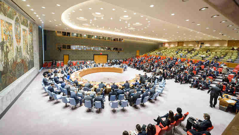 Meeting of the Security Council to discuss the alleged use of chemical weapons in the Khan Shaykhun area of southern Idlib, Syria. UN Photo / Rick Bajornas