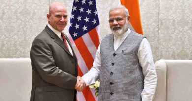 The NSA, US, Lt. Gen. H.R. McMaster calls on the Prime Minister, Shri Narendra Modi, in New Delhi on April 18, 2017