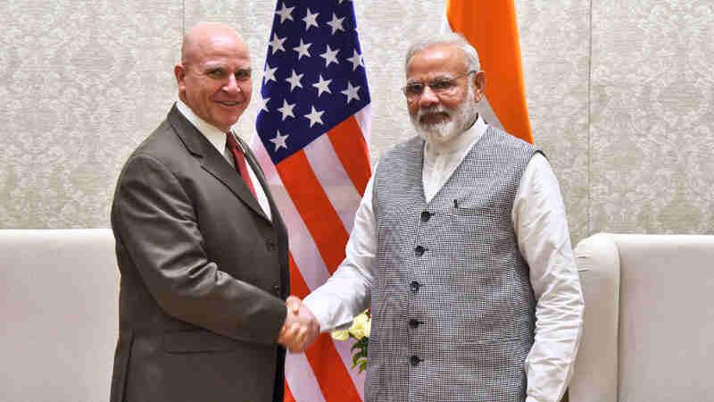 The NSA, US, Lt. Gen. H.R. McMaster calls on the Prime Minister, Shri Narendra Modi, in New Delhi on April 18, 2017