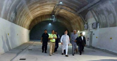 Narendra Modi visiting after inaugurating the Chenani-Nashri Tunnel, in Jammu and Kashmir on April 02, 2017