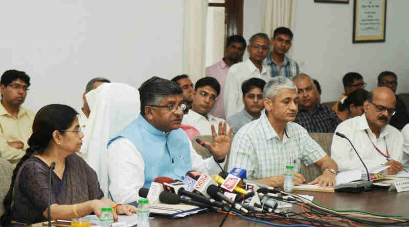 Ravi Shankar Prasad - Law Minister of India. (file photo). Courtesy: PIB