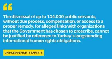 UN Experts Warn Turkey About the Impact of Purge