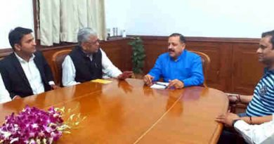A delegation of J&K Bar Association, led by its newly elected President, Advocate B.S. Salathia, calling on the Minister of State for Development of North Eastern Region (I/C), Prime Minister's Office, Personnel, Public Grievances & Pensions, Atomic Energy and Space, Dr. Jitendra Singh, in New Delhi on May 08, 2017