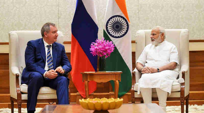 The Russian Deputy Prime Minister, Mr. Dmitry Rogozin calls on the Prime Minister, Shri Narendra Modi, in New Delhi on May 10, 2017