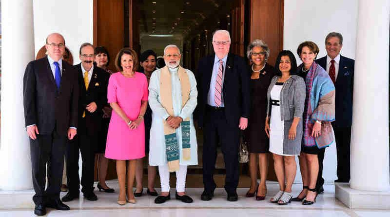 The US Congressional Delegation calls on the Prime Minister, Shri Narendra Modi, in New Delhi on May 11, 2017