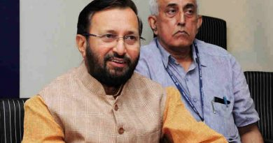 Prakash Javadekar addressing at the launch of the Anti ragging Mobile Application for students, in New Delhi on May 29, 2017
