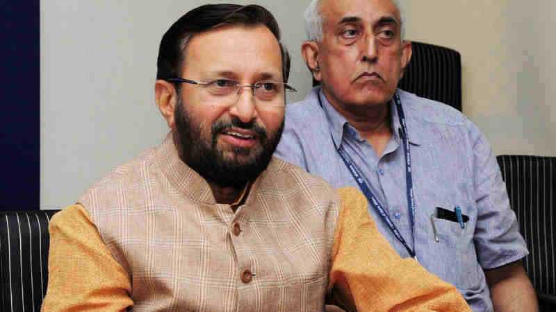 Union Minister for HRD Prakash Javadekar (file photo)