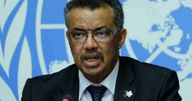 Dr Tedros Adhanom Ghebreyesus, WHO Director-General-Elect, briefs the press in Geneva. Photo: UN/Daniel Johnson