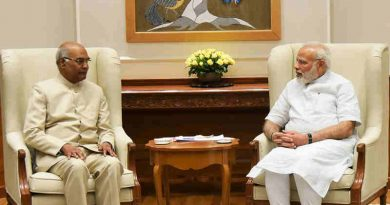Ram Nath Kovind meeting the Prime Minister, Narendra Modi, in New Delhi on June 19, 2017
