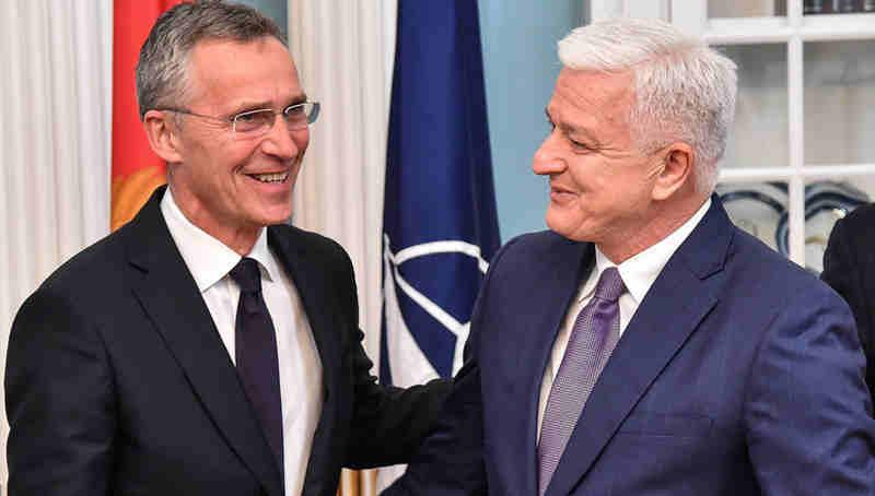 NATO Secretary General Jens Stoltenberg with Montenegro Prime Minister Duško Marković