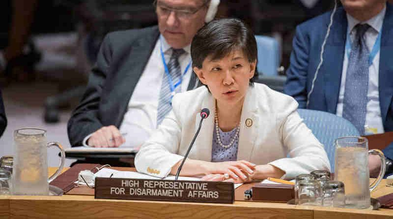 Izumi Nakamitsu, UN High Representative for Disarmament Affairs, addresses the Security Council debate on non-proliferation of weapons of mass destruction. UN Photo/Manuel Elias