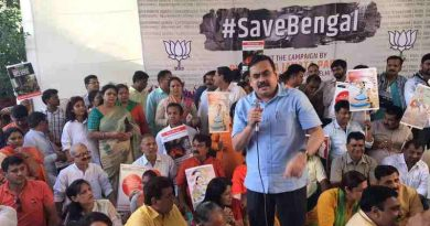 Delhi BJP Workers Support Save Bengal Campaign