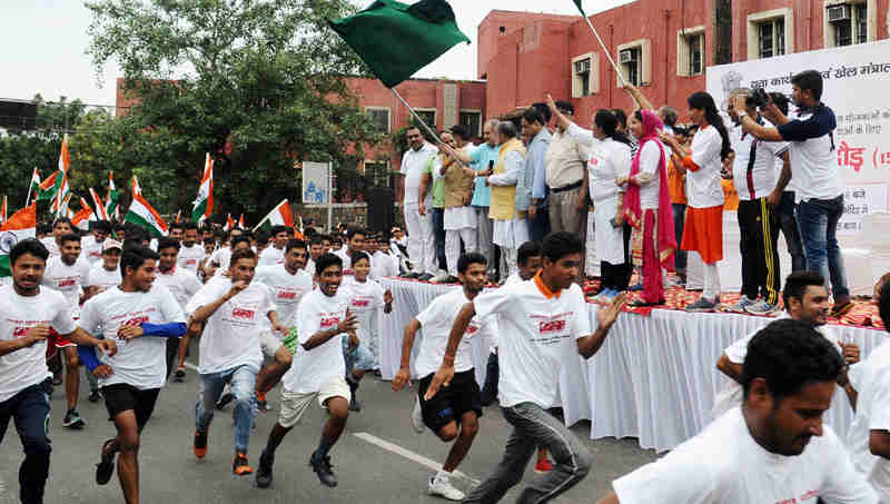 Slum Yuva Daud in New Delhi on July 30, 2017