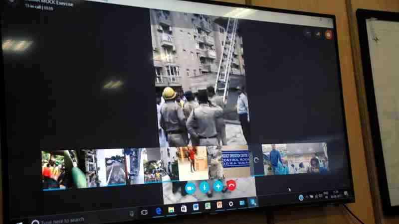 Mock Exercise in Delhi on Earthquake Preparedness