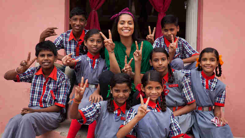 On 12 July 2017 in India, Lilly Singh visited a school run by the Madhya Pradesh State government in Bhopal where she met with students 11- 14 years of age.