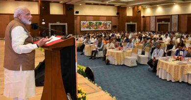 Narendra Modi interacting with the Chief Secretaries of States & Union Territories at the National Conference of the Chief Secretaries, in New Delhi on July 10, 2017