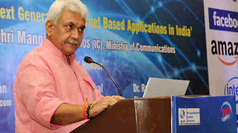 Minister for Communications Manoj Sinha