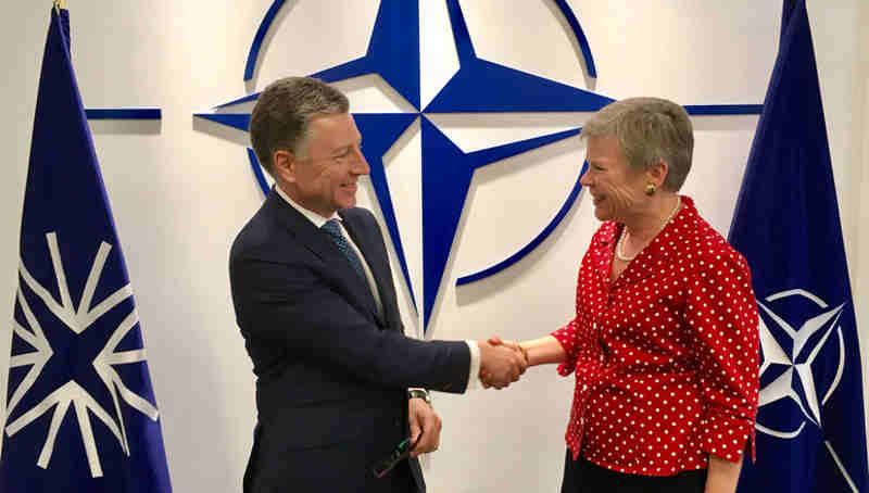 Ambassador Kurt Volker with NATO Deputy Secretary General Rose Gottemoeller. Photo: NATO