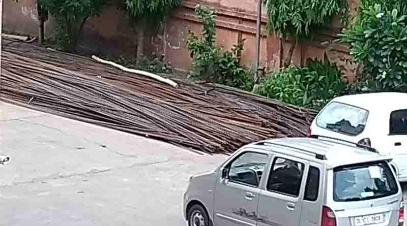 Illegal Extended Construction Activity at R. D. Apartments in Sector 6 of Dwarka in New Delhi