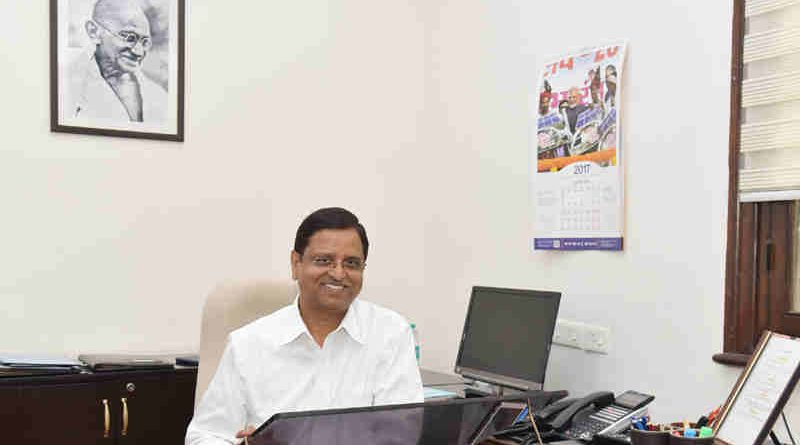 Shri S.C. Garg taking charge as the new Secretary, Department of Economic Affairs, in New Delhi on July 12, 2017.