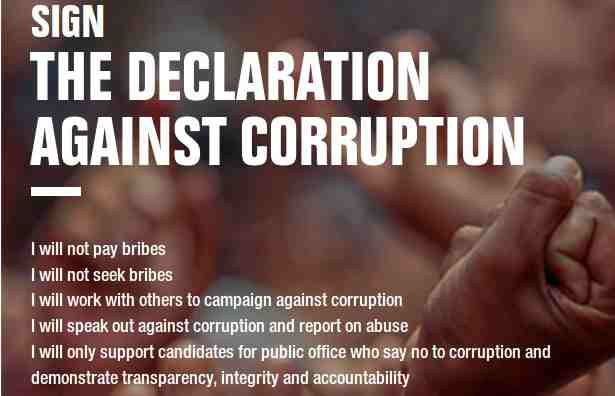 Declaration Against Corruption