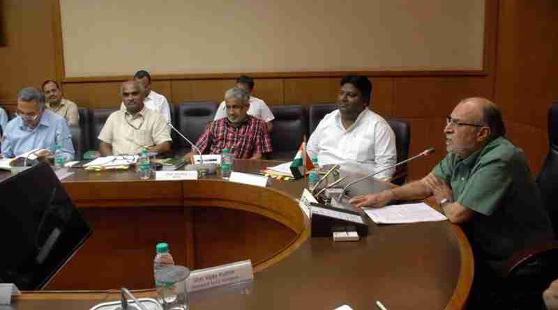 Delhi LG Anil Baijal in a meeting.