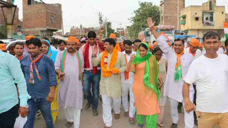 BJP campaign for the Bawana assembly bye-election in Delhi