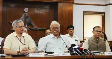 The Union Minister for Civil Aviation, Shri Ashok Gajapathi Raju Pusapati briefing the media on the second round of bidding under RCS-Udan, in New Delhi on August 24, 2017. The Minister of State for Civil Aviation, Shri Jayant Sinha and the Secretary, Ministry of Civil Aviation, Shri R.N. Choubey are also seen.