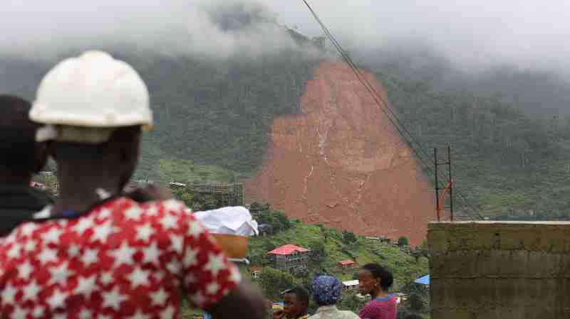 On 14 August 2017, a massive landslide in the Regent area of Freetown, Sierra Leone, has lead to hundreds of deaths as sites flood across the capital city.