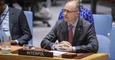 Emmanuel Roux, Special Representative of INTERPOL to the United Nations, addresses the Security Council meeting on 'Preventing Terrorists from Acquiring Weapons.' UN Photo/Manuel Elias