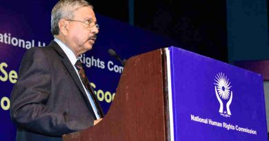 The Chairperson, National Human Rights Commission (NHRC), Justice H.L. Dattu addressing at the Valedictory Session of the two-day National Seminar on Good Governance, Development and Human Rights, organised by the National Human Rights Commission (NHRC), in New Delhi on September 22, 2017.