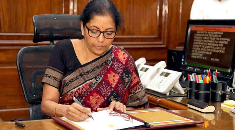 Nirmala Sitharaman taking charge as the Union Minister for Defence, in New Delhi on September 07, 2017. Photo (file) courtesy: PIB
