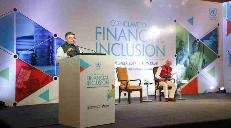 Ravi Shankar Prasad, an Indian minister, said digital inclusion is the foundation of financial inclusion.