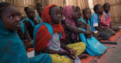 Children attend school in the town of Banki, which was recaptured by the Nigerian military in 2015 from Boko Haram, in Banki, Nigeria, 28 September 2017. Photo: UNICEF
